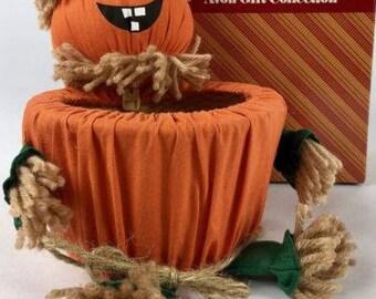 Vintage Avon Halloween Jack-o-lantern Jol Basket With Box - Avon Gift Collection