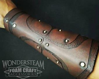 Cuff/front arm - armor - Medieval/Fantasy - fantastic - man/woman - LARP/Larp - patterns/Rivets - faux leather - PE /Mousse EVA foam