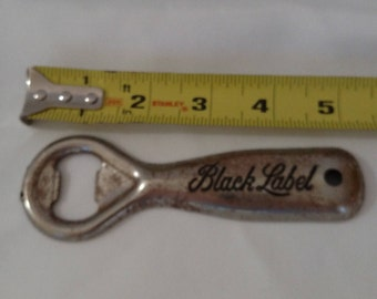 Vintage Black Label beer bottle opener