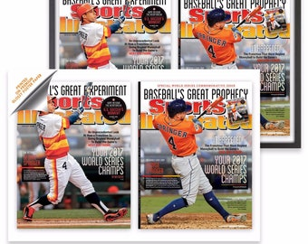 2014-2017 Sports Illustrated Astros Covers: The Prediction Cover, The Come-True 2017 Cover 19x13 Wall Poster