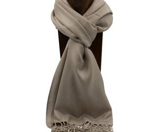 Pashmina, Scarf, Shawl Khaki Solid Color