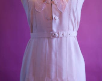 chic vintage pastel pink 1980's dress size 10