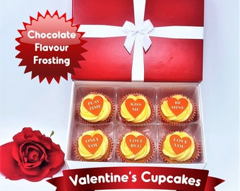Valentine's Day Light Chocolate Cupcakes