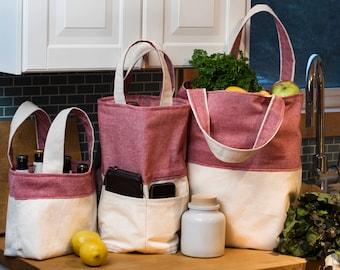 Canvas Wine Bag - Reversible