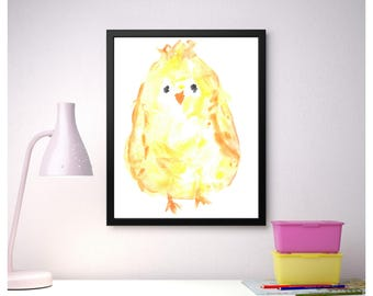Nursery Wall Art,Printable Wall Art,Living Room Wall Art,Digital Download,Instant Download,Wall Decoration,Children's Pictures,Chicken print