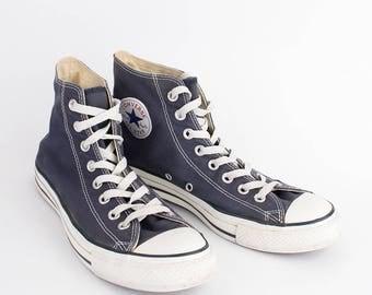 EU 41 - blue Converse All Star canvas shoes - hi top Chuckies size uk 7.5 / US men 7.5 + womens 9.5 - chuck taylor allstars sneakers