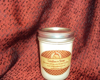 12 oz Soy Candle Mason Jar. Soy Wax with Lid.