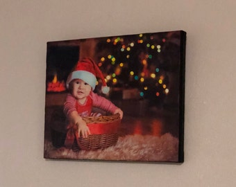 Put your favorite photo on a canvas size 10x8