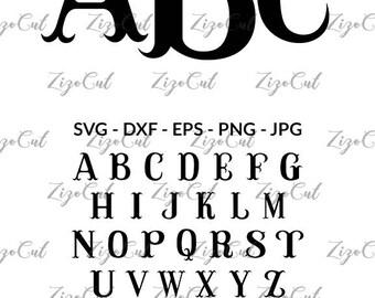 Fishhook Monogram Font SVG, Fishhook Monogram Alphabet.