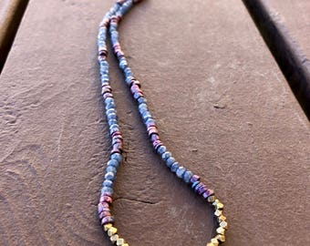Mykonos & Kyanite Bead Necklace