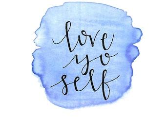 Love Yo Self card