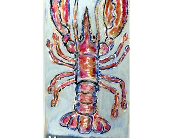 Home Art original lobster painting on shingle