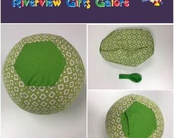 Balloon Ball Cover - Lime Diamonds