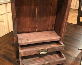 Display Shadowbox with 2 drawers