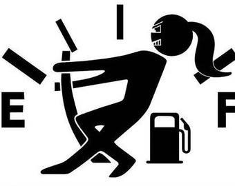 Jeep Gas Girl Decal