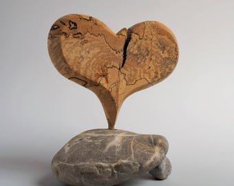 Heart of Gestocktem Birch wood