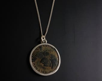 Ancient original Roman coin necklace