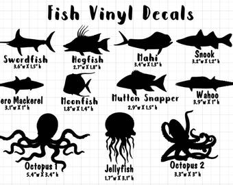 Ocean Fish Vinyl Decal