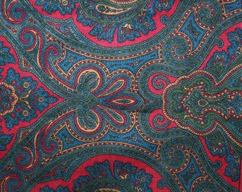 RARE Paisley Patterned Vintage Scarf