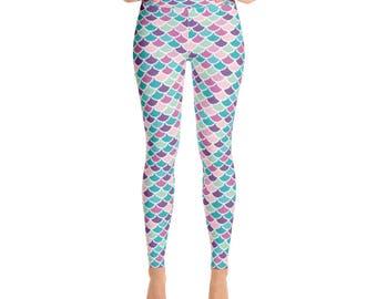 Mermaid Leggings - Womens Leggings - Adult Leggings - Ladies Leggings - Fun Print Leggings - Mermaid