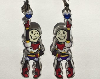 Papyrus With Soul Acrylic Charm- Double-Sided Undertale Keychain
