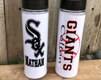Personalized Baseball Water Bottle | Little League | T-Ball | 100% BPA Free | 24 oz.