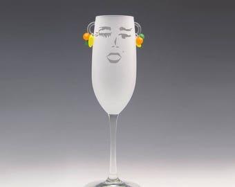 Carmen Champagne Glass - a Carmen Miranda Brazil-fest with every sip!