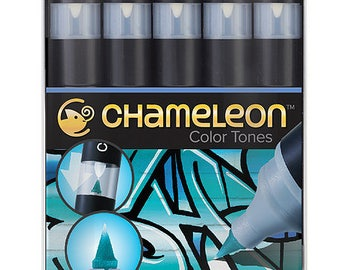 Chameleon Pens-Set of 5-blue tones