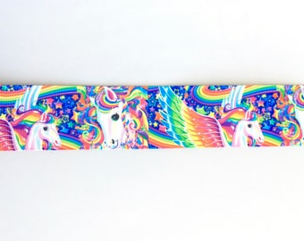 Rainbow Unicorn 1.5 inch 38mm Grosgrain Ribbon for Hair Bows Scrapbooking Crafts Party Cake Birthday Decoration