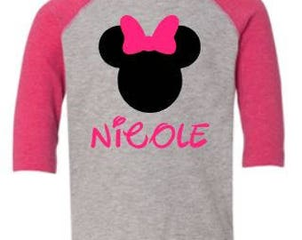 Minnie Mouse Custom Shirt/Bodsuit for Kids/Infants