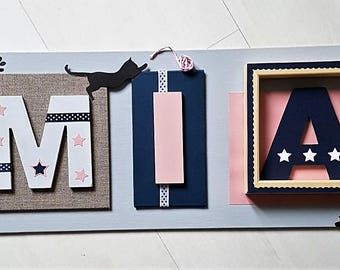 Personalized frame - child's name - each piece is unique