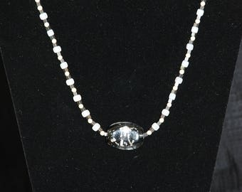 Glass and Pearl Necklace