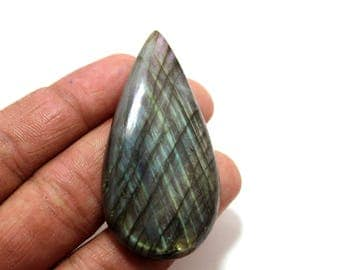 120.30cts Natural Multi flash Labradorite  pear  59X30X8 mm Labradorite loose gemstone amazing & beautifull Labradorite nice flash AA-66