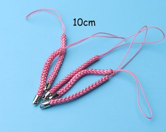 30pcs 10cm Cell Phone Cords Lanyard Strap Mobile Lariat Strap Cord Lobster clasp Key Ring Chain Jewelry Making