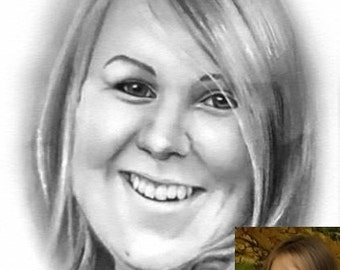 Custom Graphite Portraits, Personal Drawing, Personalized Pencil Photos, Drawing from Photograph