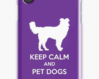 Keep Calm and Pet Dogs iPhone Case