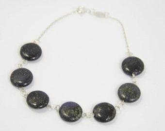 Sea Jasper - 925 sterling silver bracelet