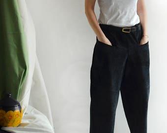 black suede culottes, size 38/40