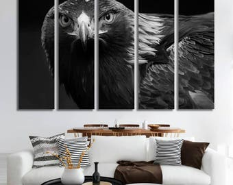 Large Wall Art Animal Canvas Print - Flying Eagle Wall Decor Eagle Poster Print Living Room Decor Ideas