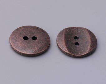 zinc alloy button 2 holes sewing button 10pcs 20mm round copper button