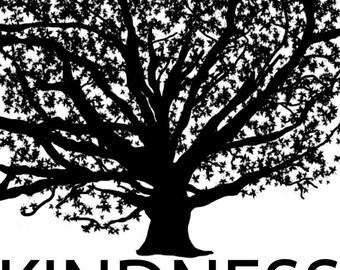 "Backpack tag - ""Kindness"""