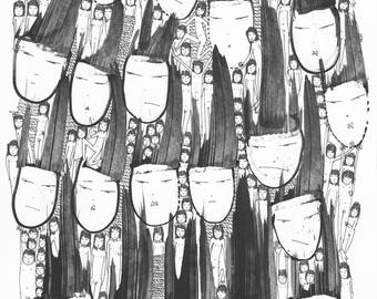 Head Totem - Print