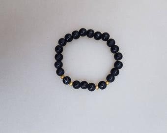Black bracelet/Gold/Love message on each account