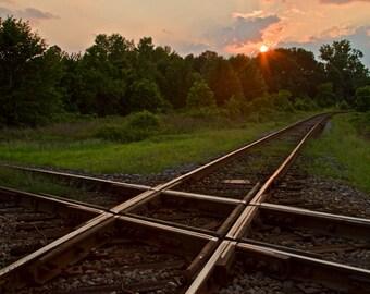 Cross Rails at Sunset