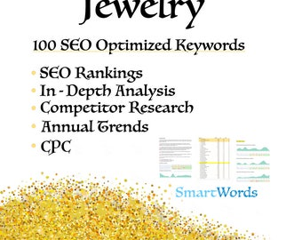 SEO Keyword Research // Jewelry // Improve Web Presence, Surpass Competitors, Become #1 in Google Rankings