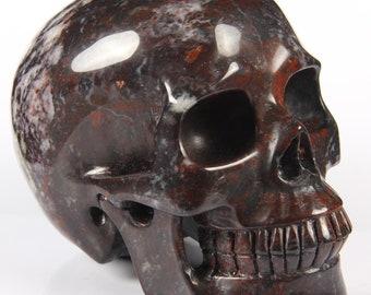 Chinese Bloodstone Crystal Skull