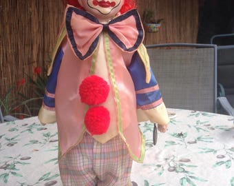 Brinn's Collectible Porcelain Clown Doll 1990