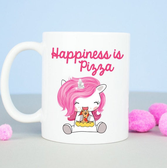 Pizza Unicorn coffee mug, funny pizza junk food mug, funny office mug, unicorns are real, birthday gift