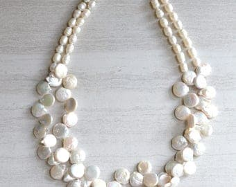 Bailey - Freshwater Pearl Statement Necklace