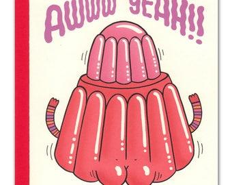 Awww Yeah Jiggly Buns Card